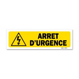 """Panneau indication """"arrêt d'urgence"""""""