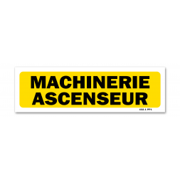 "Panneau indication ""machinerie ascenseur"""