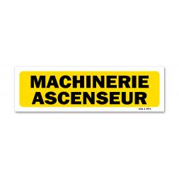 """Panneau indication """"machinerie ascenseur"""""""