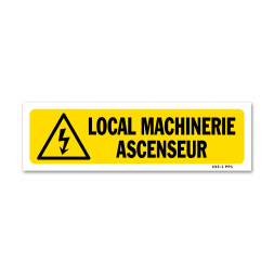"Panneau indication ""local machinerie ascenseur"""