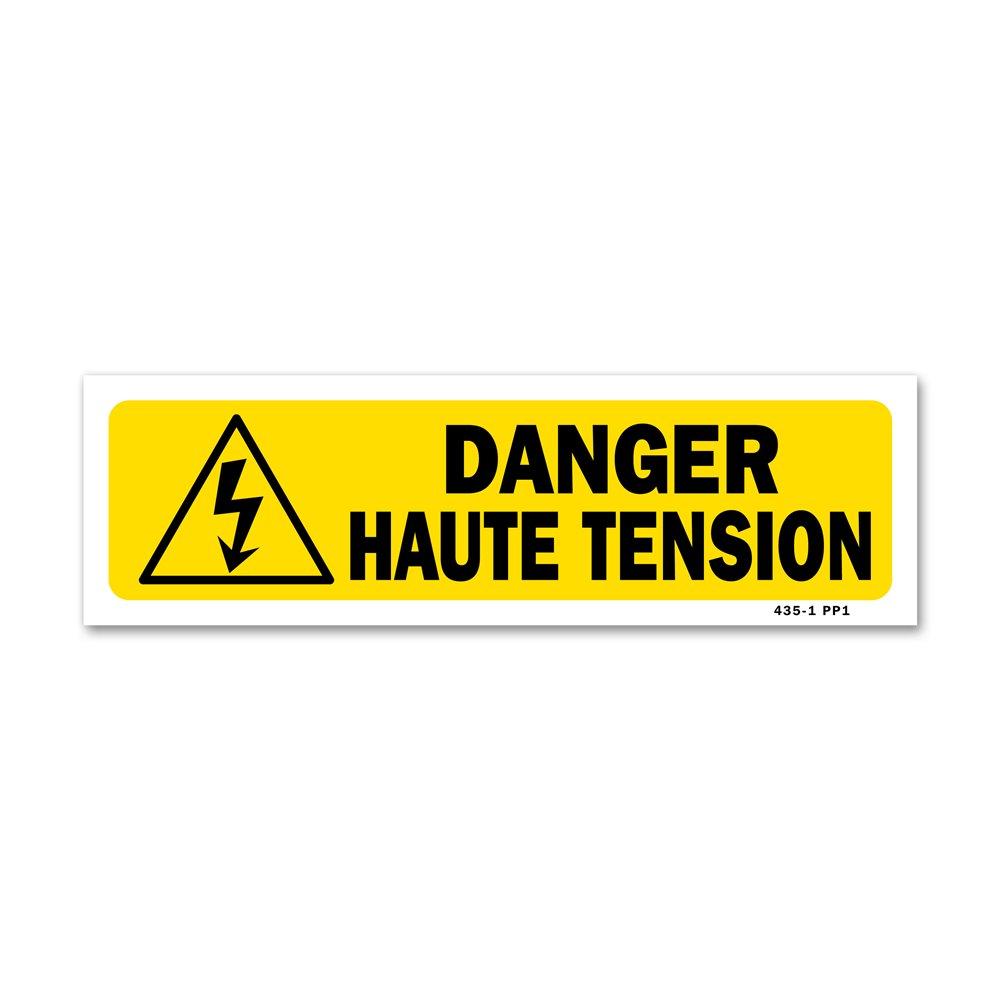 """Panneau indication """"danger haute tension"""""""