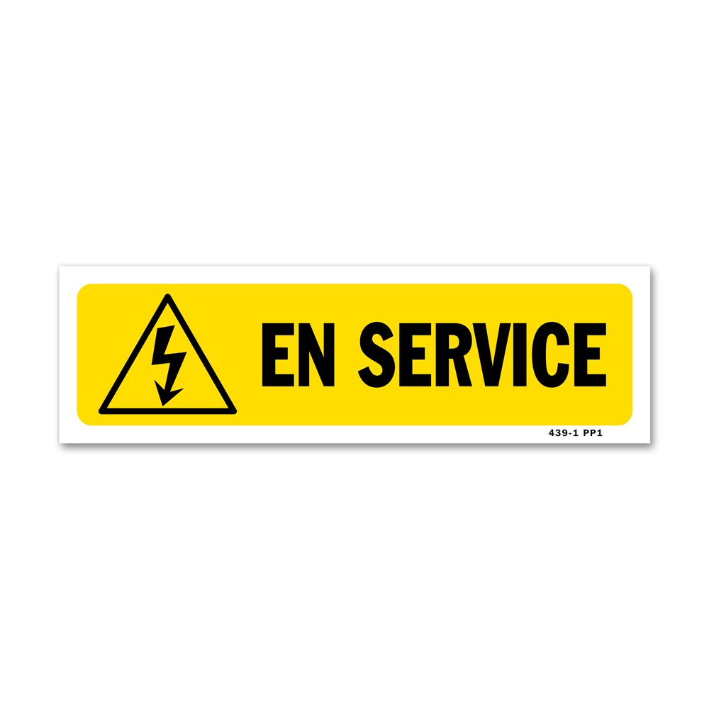 """Panneau indication """"en service"""""""