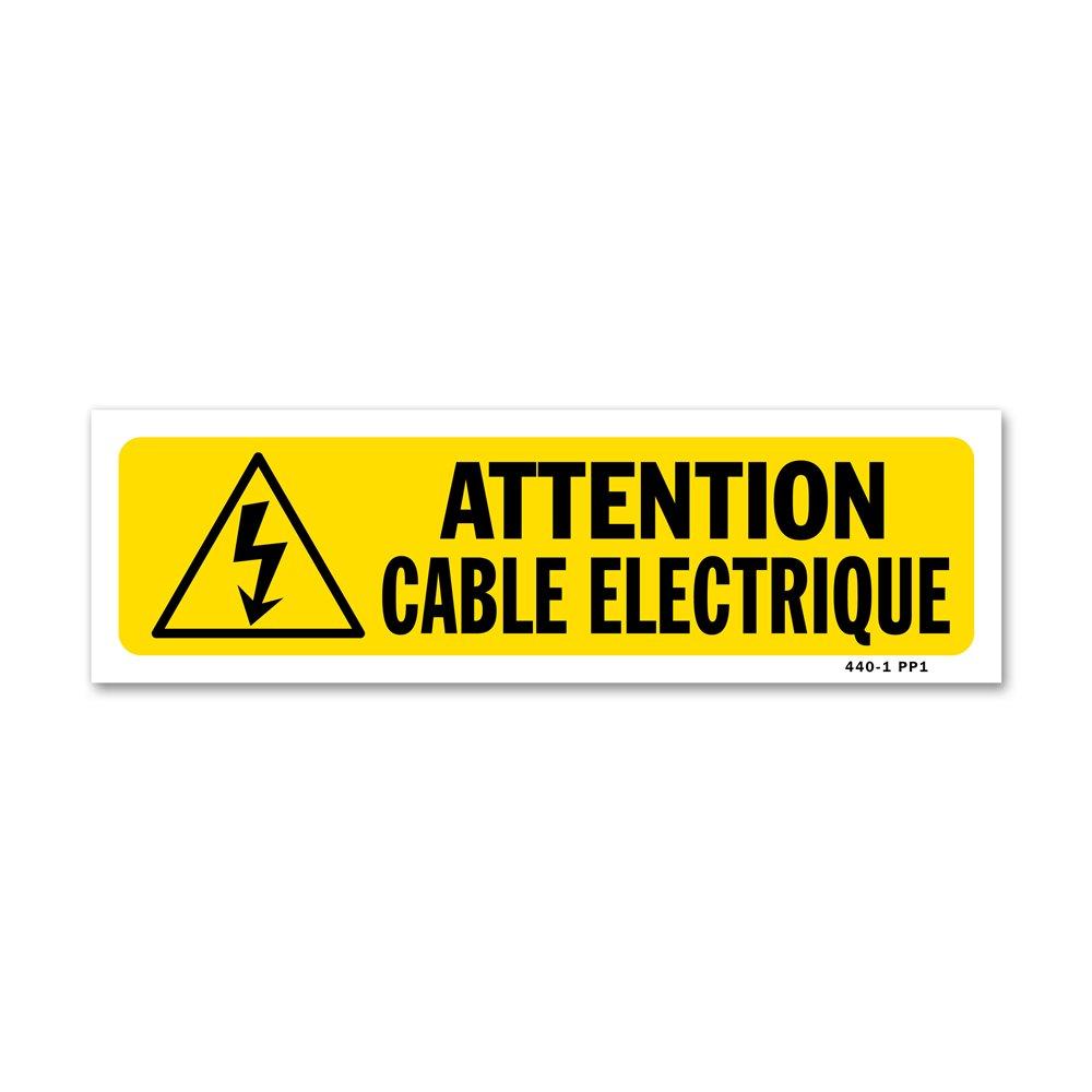 """Panneau indication """"attention cable électrique"""""""