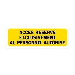"""Panneau indication picto """"personnel autorisé"""""""