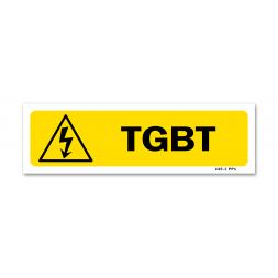"""Panneau indication picto danger électrique """"t.g.b.t"""""""
