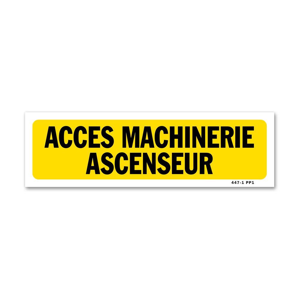 """Panneau indication """"accès machinerie ascenseur"""""""