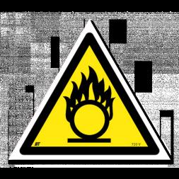 Panneau danger picto matières comburantes
