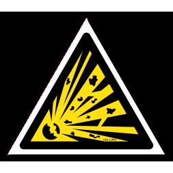 Panneau danger picto matières explosives