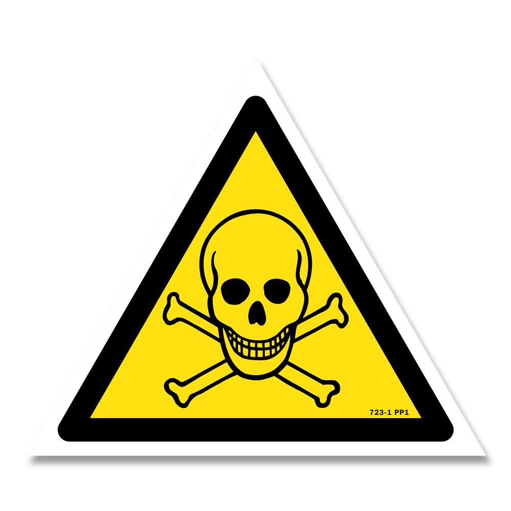 Panneau danger picto matières toxiques