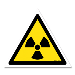 Panneau danger picto matières radioactives