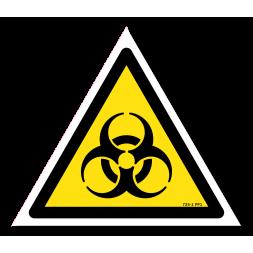 Panneau danger picto risques biologiques