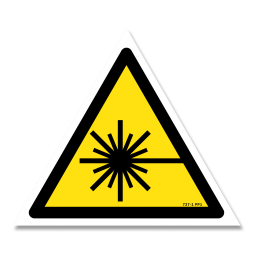 Panneau danger picto rayonnement laser