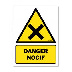 Panneau danger picto matières nocives