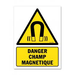 Panneau danger picto champ magnétique important
