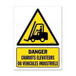 Panneau danger picto véhicules de manutention