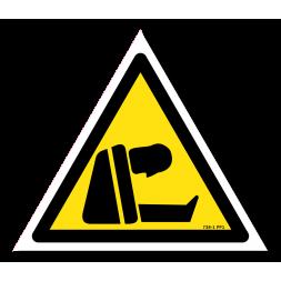Panneau indication picto risque d'asphyxie