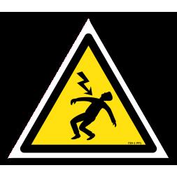 Panneau danger picto foudroye danger électrique