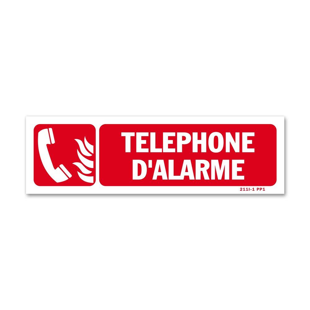 """Panneau avertissement picto """"téléphone d'alarme"""""""