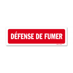 "Panneau interdiction ""défense de fumer"""