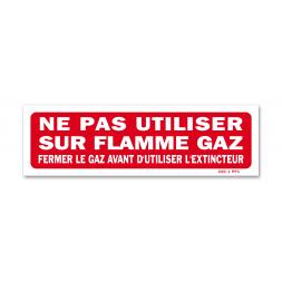 "Panneau interdiction ""fermer gaz"""