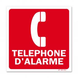 """Panneau avertissement """"téléphone d'alarme"""""""