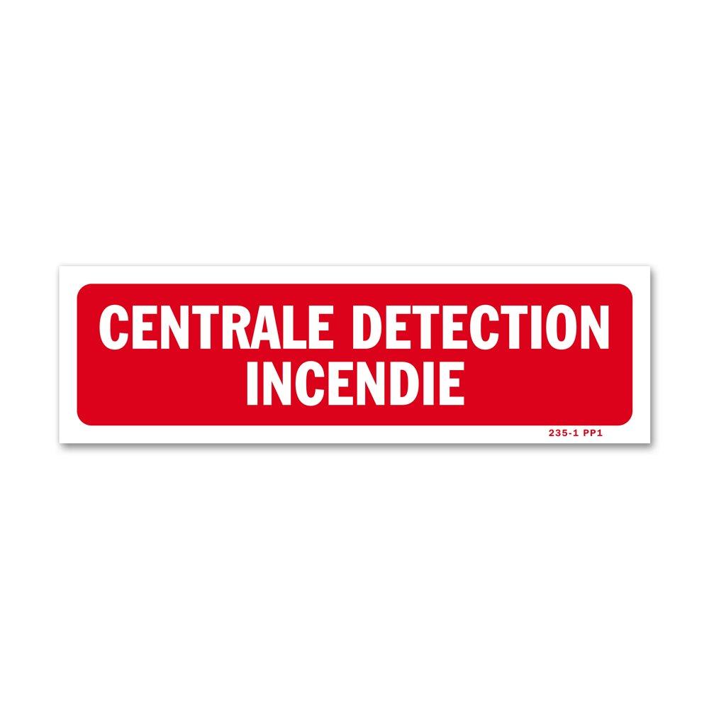 """Panneau avertissement """"centrale détection incendie"""""""