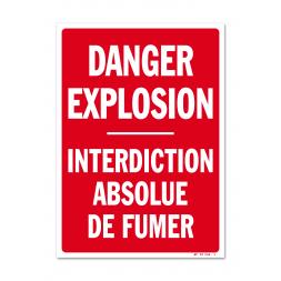 """Panneau avertissement """"danger explosion"""""""