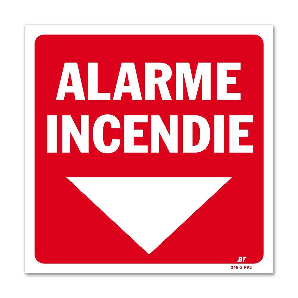 """Panneau avertissement """"alarme incendie"""""""