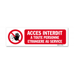 """Panneau interdiction picto """"entrée interdite à toute personne"""""""