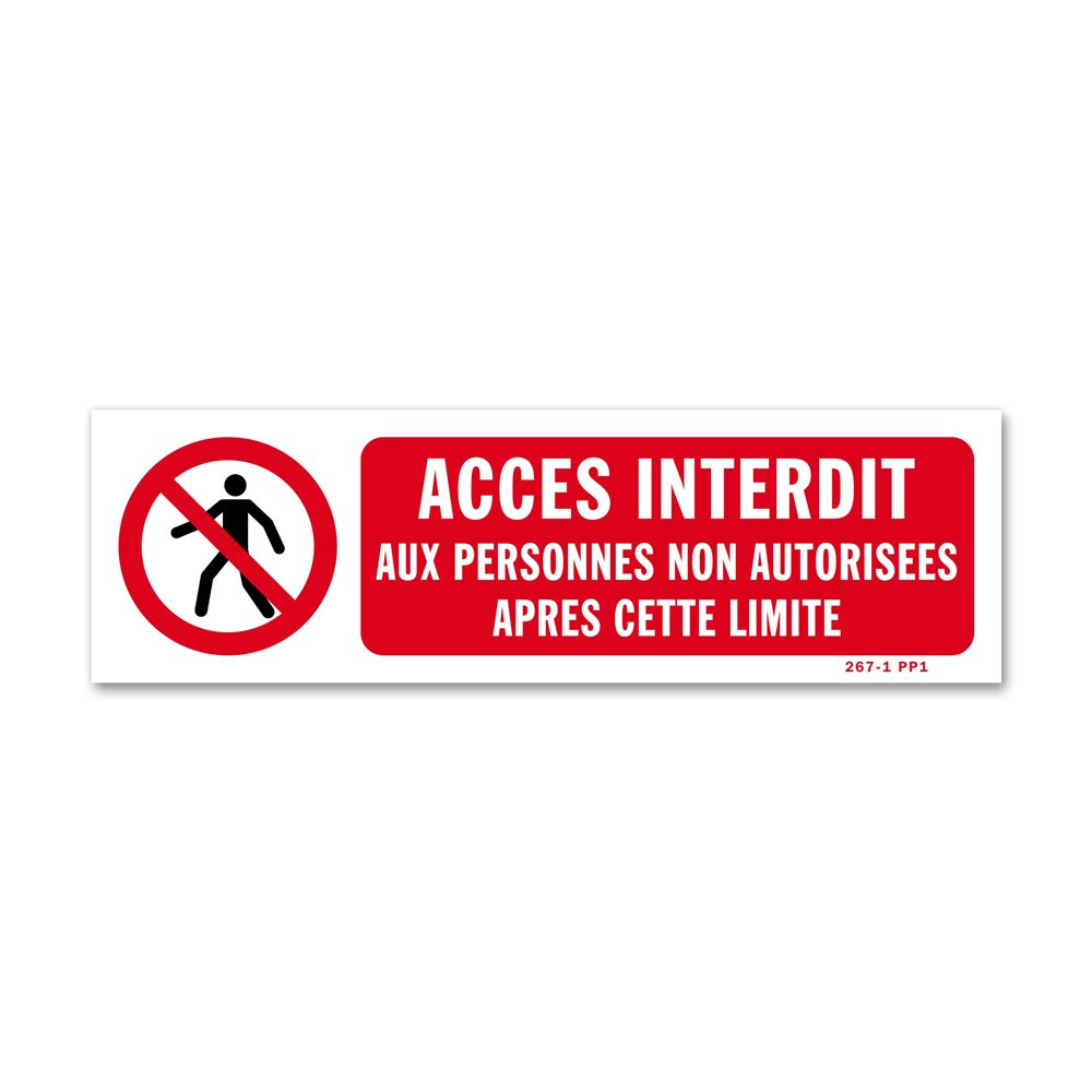 "Panneau interdiction ""interdiction de penetrer"""