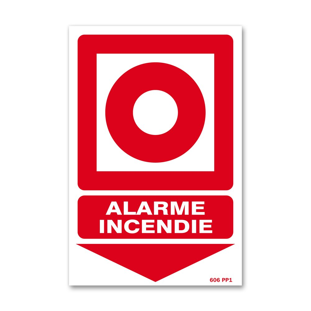 """Panneau avertissement picto """"boitier d'alarme"""""""