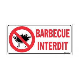 "Panneau interdiction picto ""barbecue interdit"""