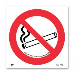Panneau interdiction picto interdit de fumer