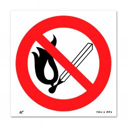 Panneau interdiction picto flamme nue interdite