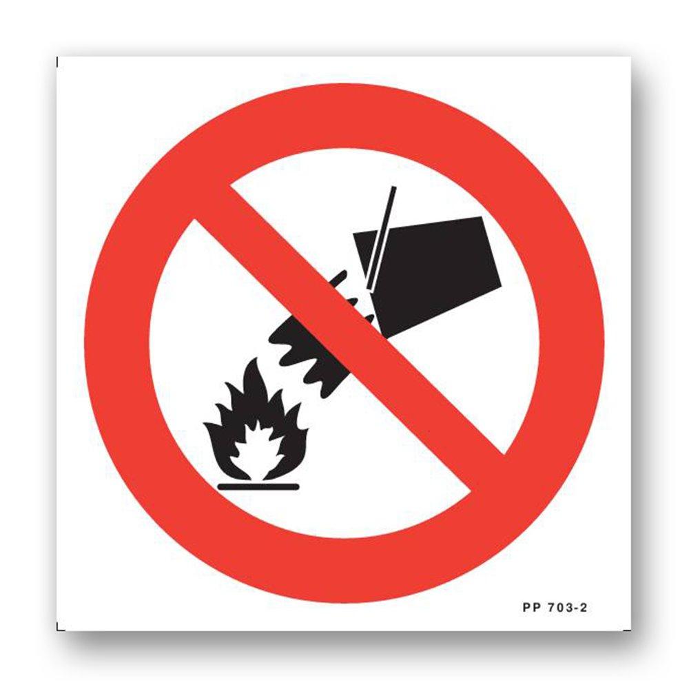 Panneau avertissement picto défense eteindre avec eau