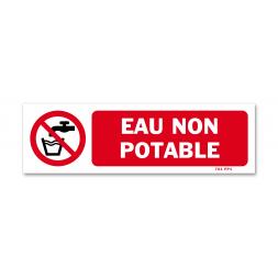 Panneau avertissement picto eau non potable