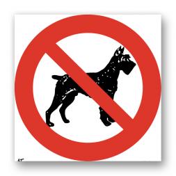 Panneau interdiction picto animaux interdits