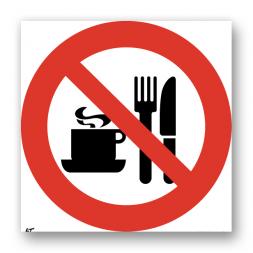 Panneau interdiction picto pique-nique interdit