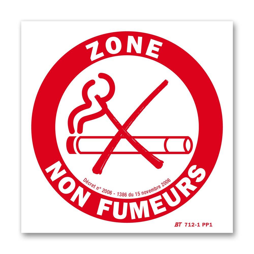 """Panneau avertissement picto """"zone non fumeurs"""""""