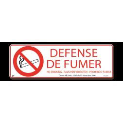 """Panneau avertissement picto """"défense de fumer"""""""