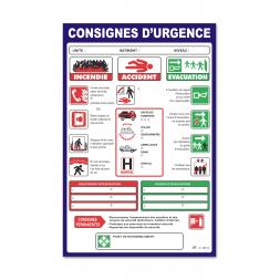 """Consigne générale """"consigne urgence"""""""