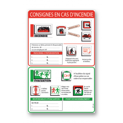 """Consigne générale """"consigne incendie évacuation"""""""