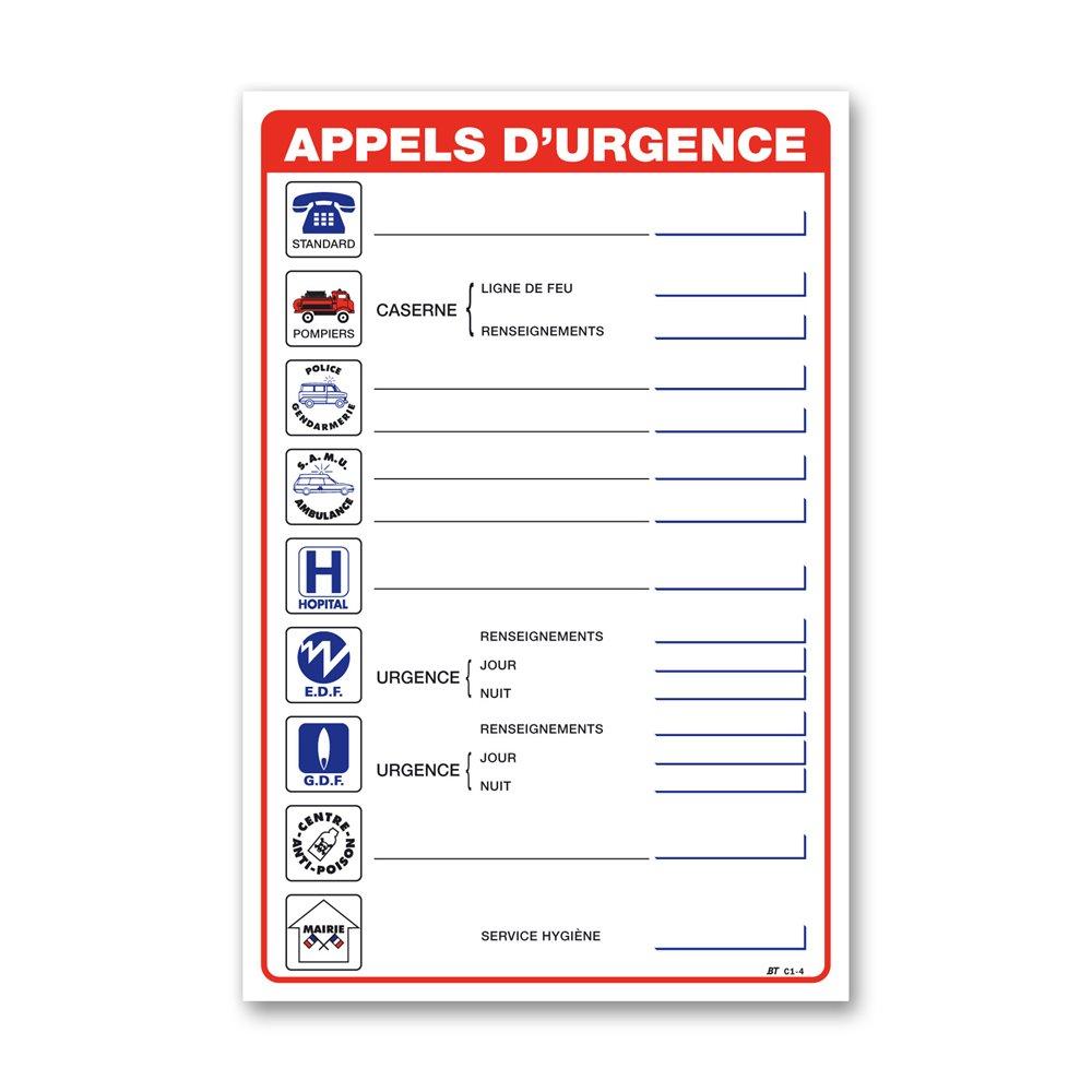 """Consigne générale """"consigne appel urgence"""""""
