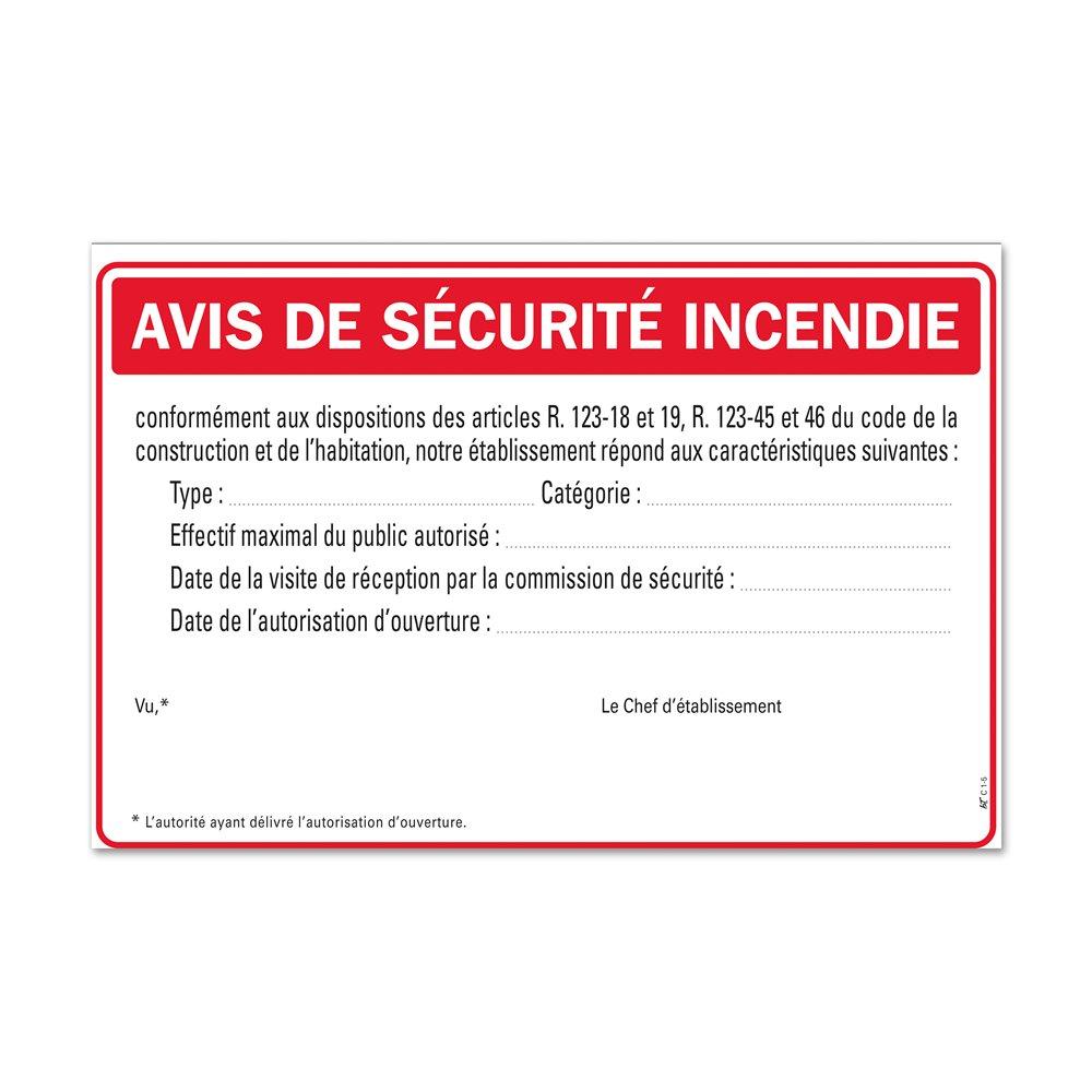 """Consigne générale """"consigne avis de sécurité"""""""