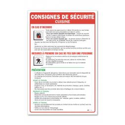 """Consigne générale """"consigne sécurité cuisine"""""""