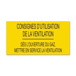 """Consigne spécifique """"consigne utilisation ventilation"""""""