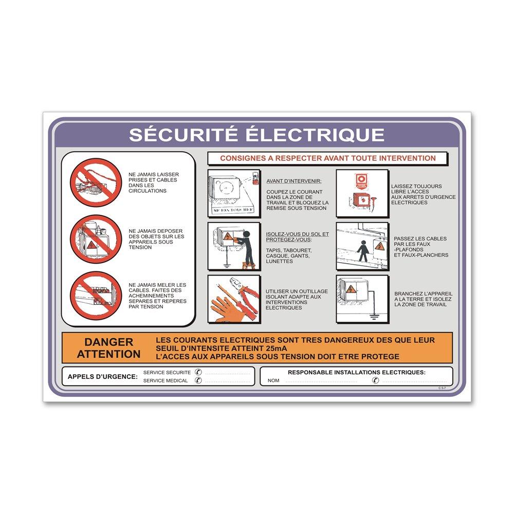 """Consigne spécifique """"consigne sécurité électrique"""""""
