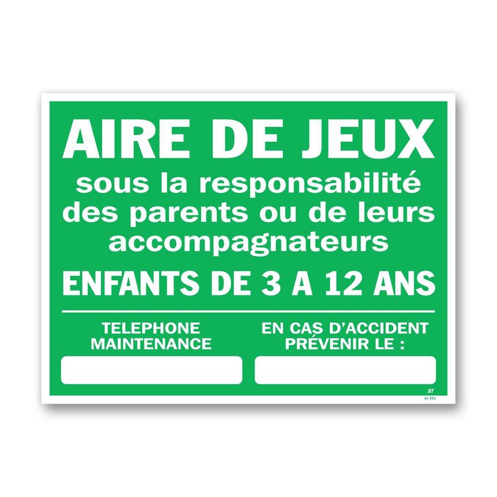 """Consigne plein air """"consigne aire de jeux"""""""