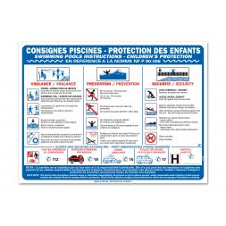 """Consigne plein air """"consigne sécurité piscine"""""""