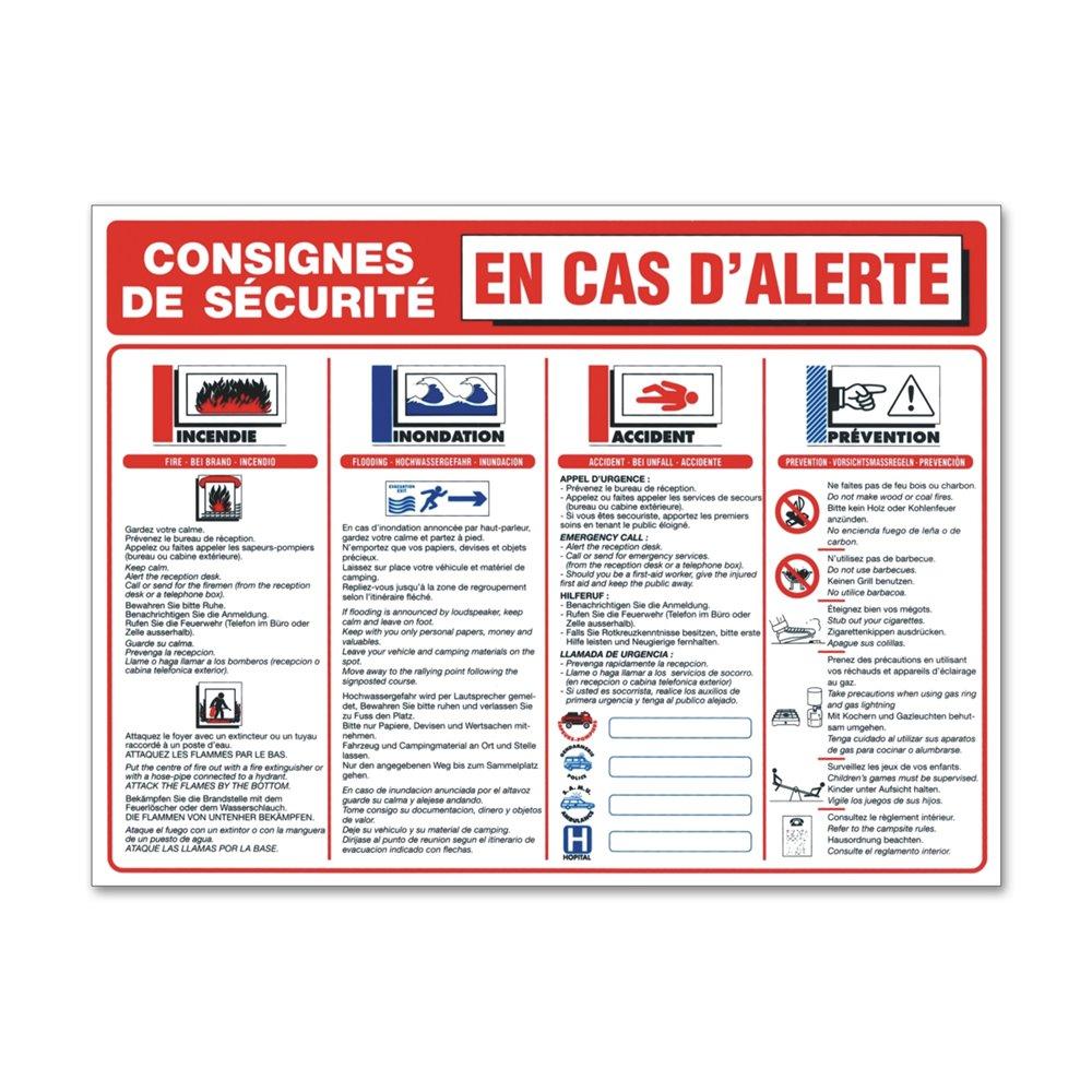 """Consigne plein air """"consigne alerte camping"""""""